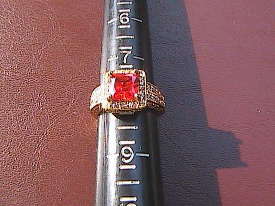 Other Gorgeous 14k Yellow Gold Filled Orange Stone Ring (stock#5)