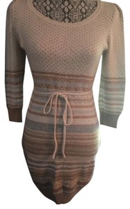 H&M Knit Fairisle Sweater Empire Waist Dress