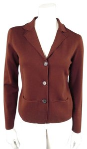Lanvin Wool Lapel Pockets Brown Blazer