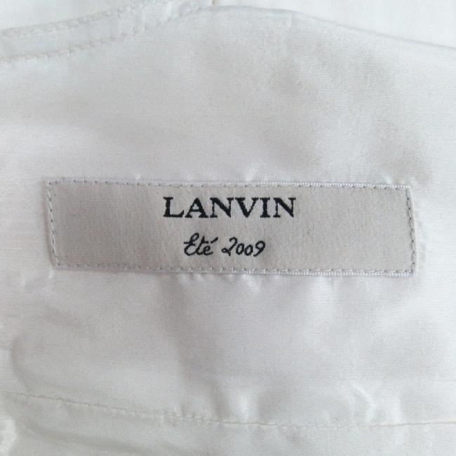 Lanvin Taffeta Zipper Bow Fish Tail Dress