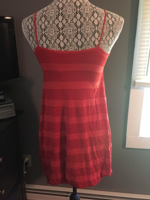 H&M short dress Red Striped Empire Waist on Tradesy