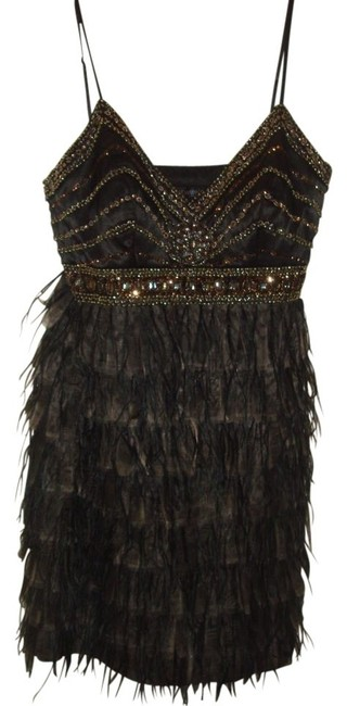 Preload https://item1.tradesy.com/images/sue-wong-black-with-bronze-beading-beaded-empire-waist-mini-cocktail-dress-size-12-l-5685-0-0.jpg?width=400&height=650