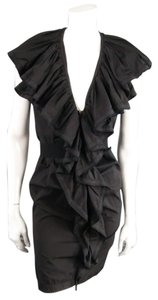 Lanvin Cotton Sleeveless Ruffle Collar Dress