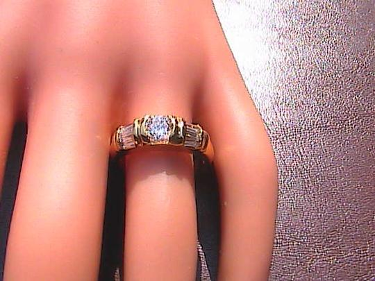 Other 14k Yellow Gold Filled White Topaz Band Ring (stock#2)