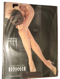 Wolford NWT Wolford Extra Small (XS) Satin Touch Nearly Black Tights