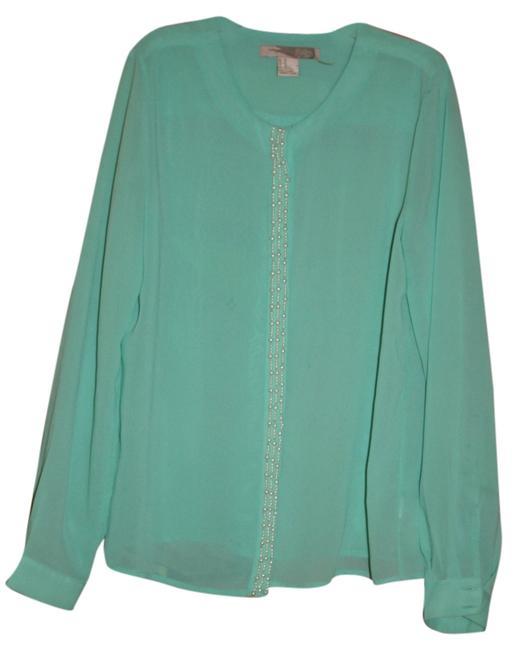 Forever 21 Top Mint with pearls