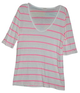 J.Crew T Shirt Pink and White