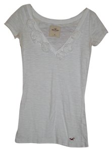 Hollister T Shirt Ivory