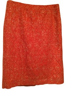 J.Crew Pencil Skirt Orange