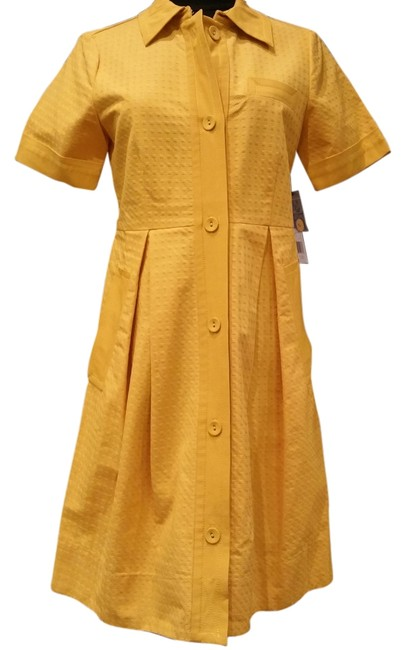 Preload https://item2.tradesy.com/images/marc-by-marc-jacobs-dress-mustard-yellow-tag-stares-clarion-gold-5686786-0-1.jpg?width=400&height=650