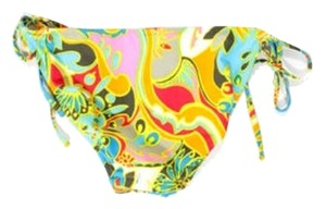 Trina Turk TRINA TURK MULTICOLORED ABSTRACT PRINT SIDE TIES BIKINI BOTTOMS 10