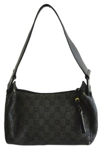 Gucci Black And White Canvas Monogram Medium Tradesy Tradenvy Pennylane Penny Lane Shoulder Bag
