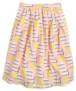 J.Crew Skirt Pink & Yellow