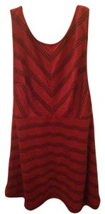 Free People short dress Red/black on Tradesy