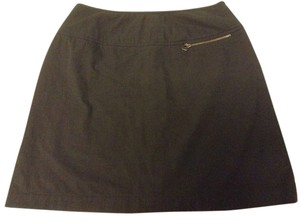 A|X Armani Exchange Mini Nylon Stretchy A-line Mini Skirt Black