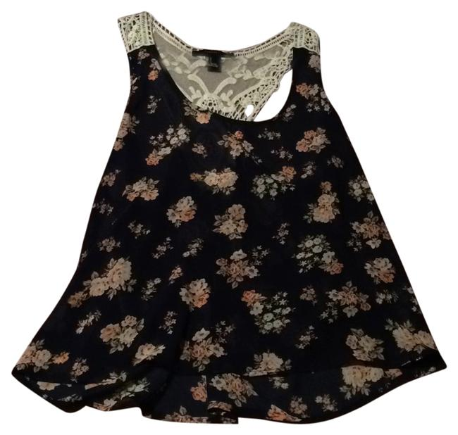Forever 21 Top Navy floral