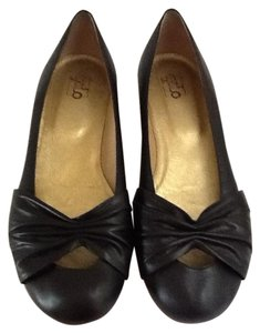 Galo Leather Italy Comfortable Black Flats