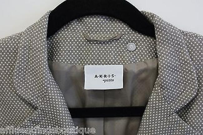 Akris Akris Punto Taupe Dotted Swiss Polka Dot Cotton Jacket