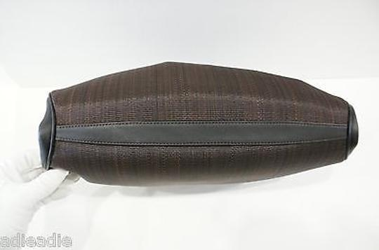 Akris Amata Horsehair Brown Clutch