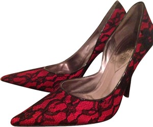 Guess Marciano Red with Black Lace Pumps