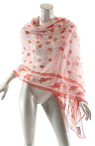 Malatesta New York MALATESTA NY 100% Silk Pinks/Red Chiffon Scarf w/Sequins+Embroidery - 37