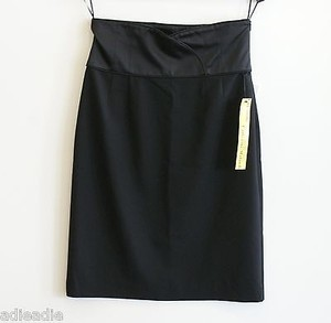 Catherine Malandrino Wide Band High Waist Skirt Black
