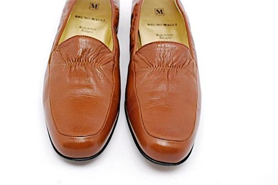Bruno Magli Loafer Polished Leather Rust Flats