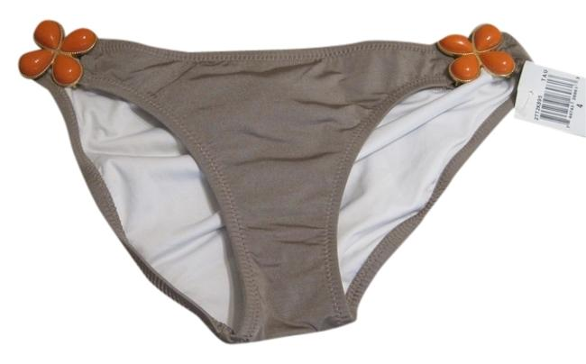 Item - Taupe Orange Flower Medallion Bikini Bottom Size 4 (S)