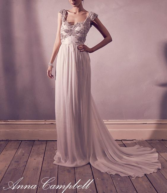 Anna Campbell The Tallulah In Ivory Long Formal Dress Size 2 Xs