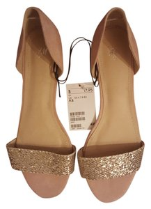 H&M Nude / Gold Flats