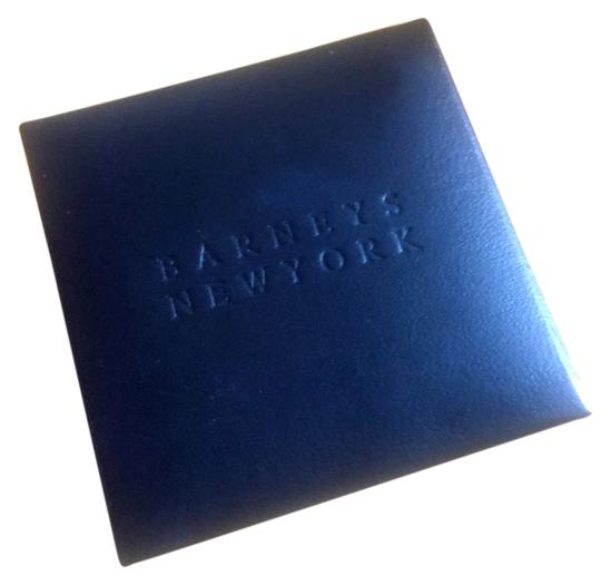 Barneys New York Barney's New York embossed black leather jewelry box