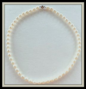 Elegant Ivory Freahwater Pearl Necklace