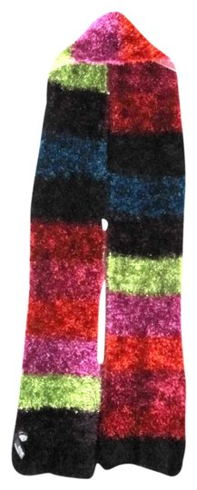 a.n.a. a new approach Knit Scarf Striped Multi Color Soft Fluffy