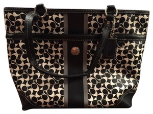 Coach Tote in Black White Gray