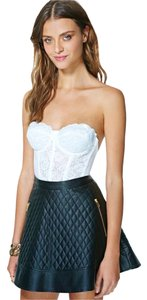 Nasty Gal Lace Lace Trim Bustier Corset Top White