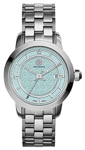 Tory Burch Tory Burch Women's Silver Tone Stainless Steel Light Blue Dial Watch TRB1008