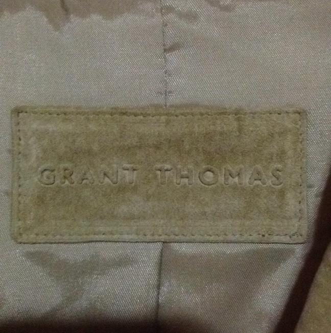 Grant Thomas Beige Leather Jacket
