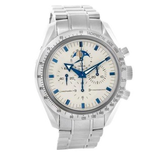 Omega Omega Speedmaster Moonphase Blue Broad Arrow Hands Watch 3575.20.00