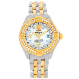 Breitling Breitling Ladies Steel 18k Yellow Gold Mop Dial Diamond Watch D71365