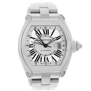Cartier Cartier Roadster Dual Time Zone Silver Dial Mens Watch W62032x6