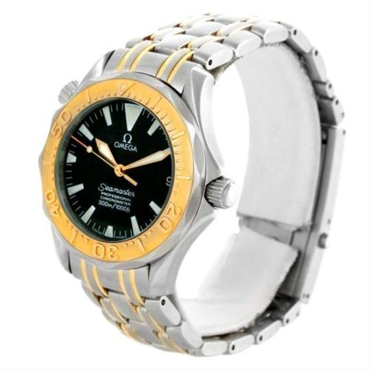 Omega Omega Seamaster Midsize Steel 18k Yellow Gold Black Dial Watch