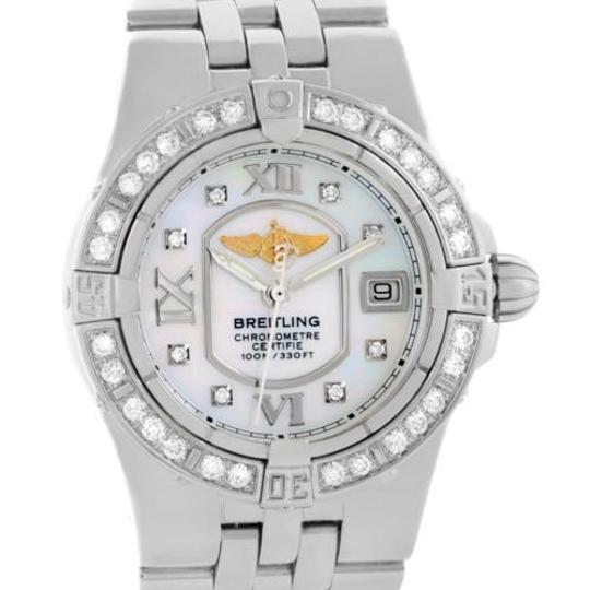 Breitling Breitling Starliner Ladies Mother Of Pearl Diamond Watch A71340