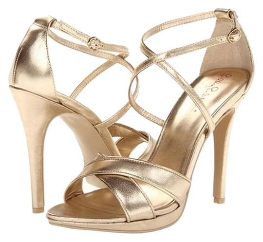 Lilly Pulitzer Summer Strappy Gold Pumps