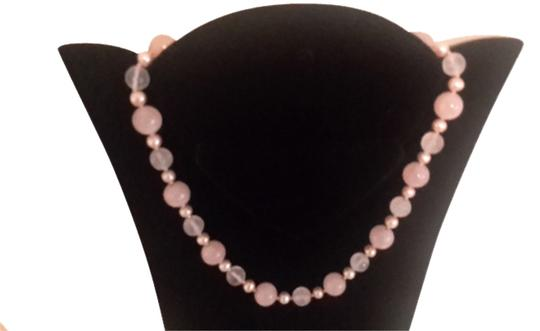 Rose quart,pearl,gold beads Rose quart with 14k gold beads and 14k gold clasp