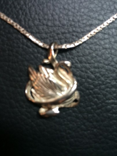"""Other Swan Necklace in Sterling Silver 19.5"""" long"""