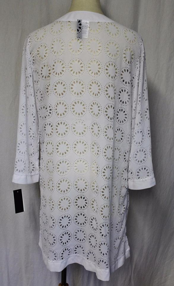 118c384d0f Kenneth Cole Reaction KENNETH COLE REACTION WHITE LASERCUT COVER UP TUNIC  XL. 1234