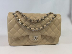 Chanel Jumpo Clair Double Flap Shoulder Bag