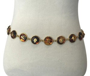 Chanel No. 5 Lucite Tortoiseshell Medallion Belt