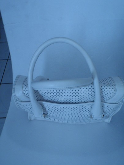 Cole Haan Purse Hand Shoulder Tote Evening Satchel in White / Cream