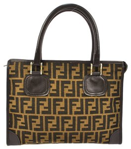 Fendi Vintage Fedni Zucca Pattern Shoulder Bag